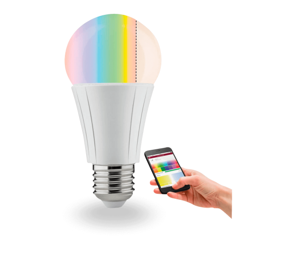 SmartHome Zigbee LED Leuchtmittel   AGL Soret   7,5 W   E27   RGBW-Farbsteuerung
