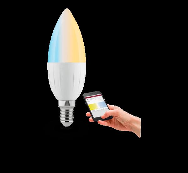 SmartHome Zigbee LED Leuchtmittel | Kerze Candela | 4,5 W | E14 | Tunable White Funktion
