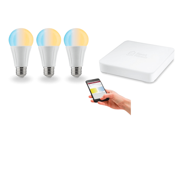 SmartHome Starter Set Soret 3x E27 Leuchtmittel inkl Smart Friends Box Tunable White dimmbar