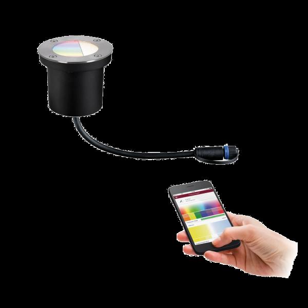 Paulmann Plug & Shine ZigBee Boden Einbauleuchte IP65 RGBW Farbwechsel